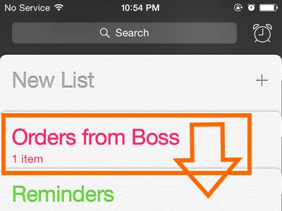 iPhone - Reminders - Drag List