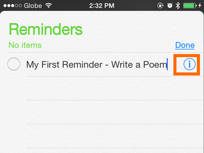 iPhone - Reminders - More Info