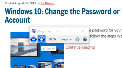 Windows 10 full screen magnifier