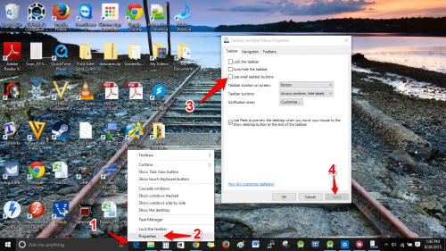 Increase Windows Taskbar Size