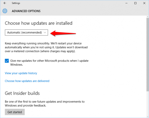 Windows 10 Manual Updates