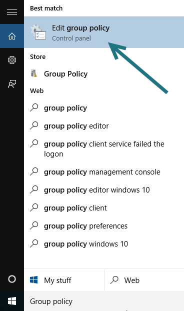 Windows 10 Group Policy Editor