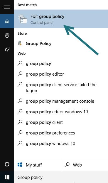 Windows 10 Group Policy Editor