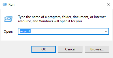 Windows 10 regedit