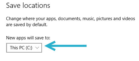 Windows 10 default app installation location