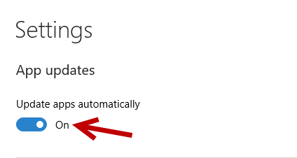 Disable auto update app in Windows 10
