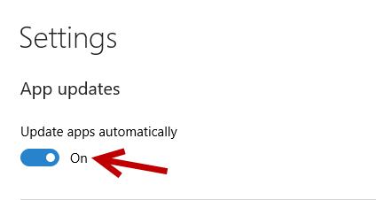 Disable auto update app in Windows 10