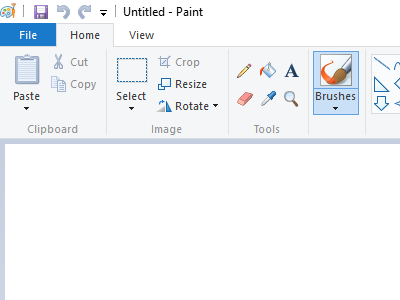 An Open Windows application - Paint