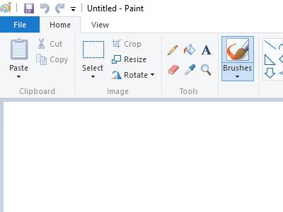 An Open Windows application - Paint