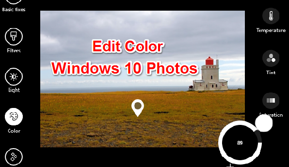 How to Edit Color in Windows 10 Photos