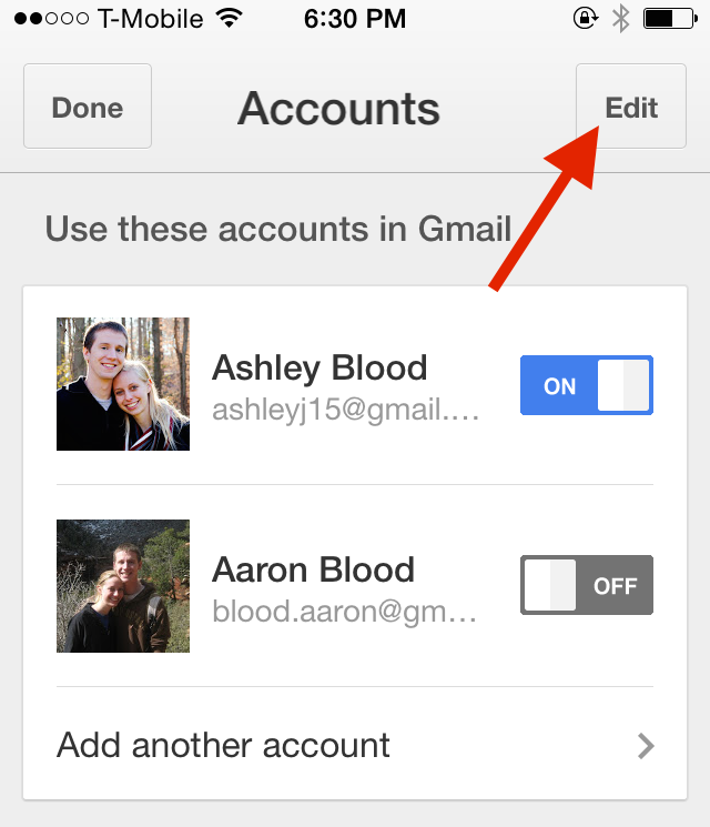 how to delete gmail account from iphone