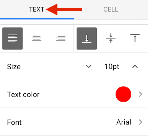 Google Sheets Format Text
