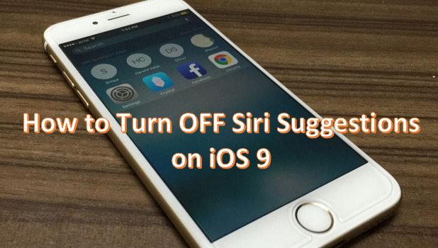 How to Turn OFF Siri Suggestions