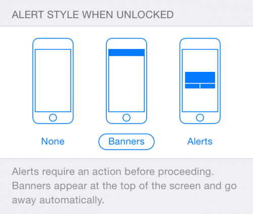 iPhone Notification Styles