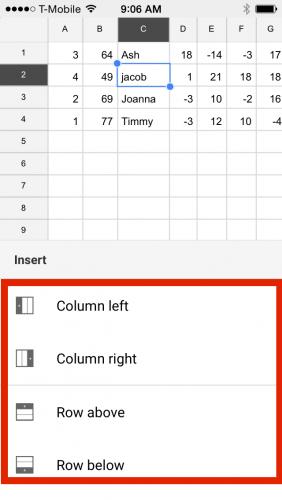 Google Sheets Insert Column