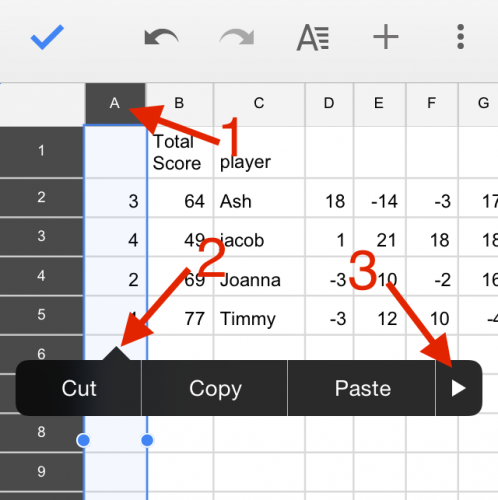 Google Sheets Freeze Column