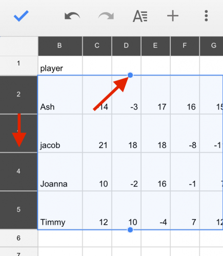 Google Sheets Resize Rows