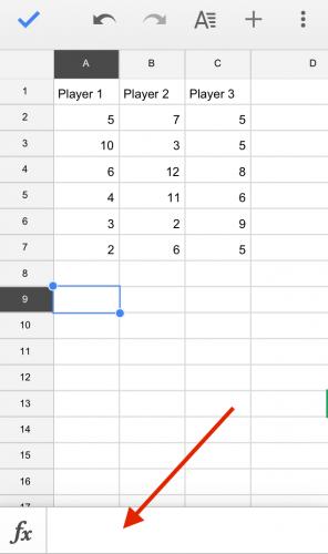 Google Sheets sum