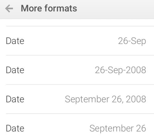 Google Sheets Mobile Format Date