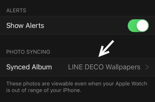 Apple Watch synced album