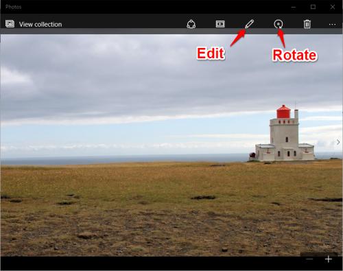 Windows Photos Edit