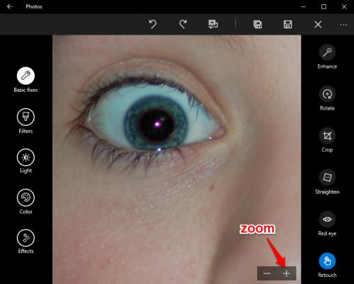 Windows 10 Photos Zoom In  Edit