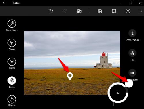 Windows 10 Photos Color Boost
