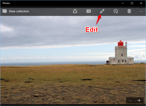 Windows 10 Photos Edit