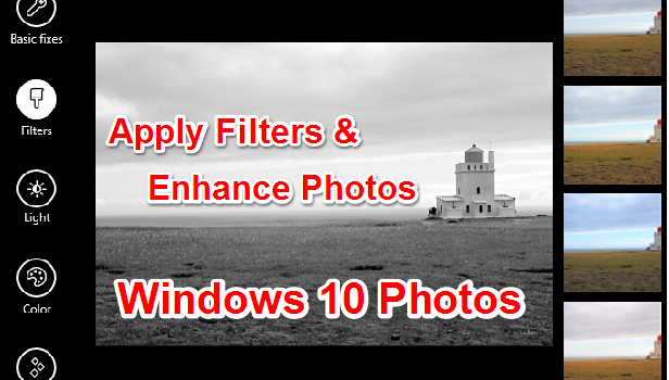 Apply Filters and Enhance Photos Windows 10
