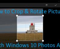 Windows Photos Cropping