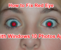 How to Fix Red Eye with Windows 10 Photos App