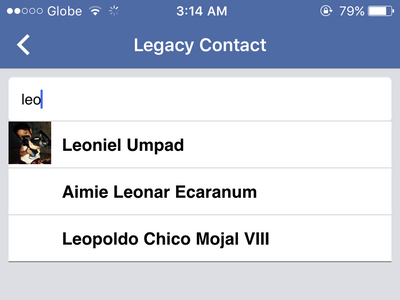 iphone - Facebook - Security - Legacy Contact photo