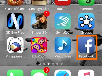 iphone - Facebook icon[