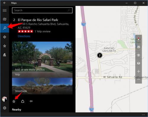 Windows 10 Map Favorite Places