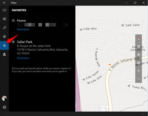 Windows 10 Favorite Places