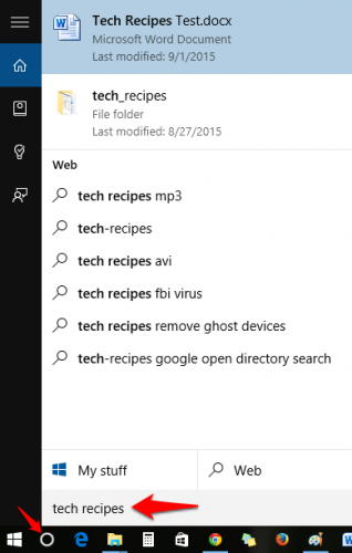 Cortana Open File