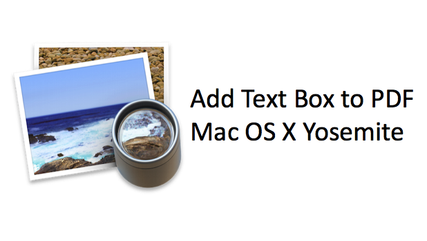 Add Text Box to PDF Mac Yosemite