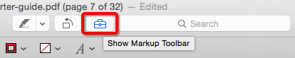 Mac Preview Markup Toolbar