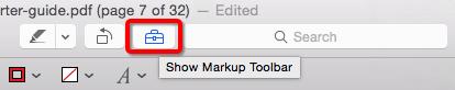 Mac Preview Markup Toolbar