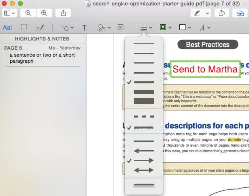 Mac PDF textbox border style