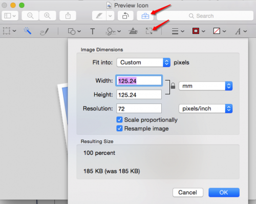 Mac Preview Resize Options