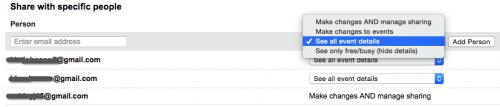 Google Calendar Share Permissions