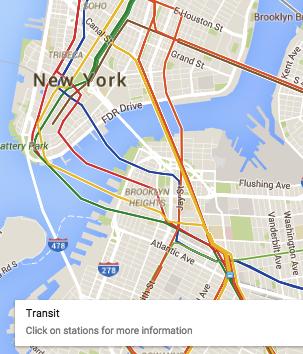 Google Maps public transit
