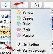 Mac Preview Strikethrough