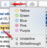 Mac Preview Underline