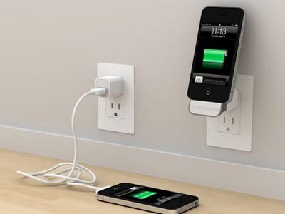 iPhone Charging on Socket