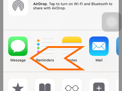 iPhone - Safari - Share - Swipe left