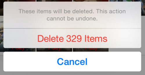 iphone delete photos
