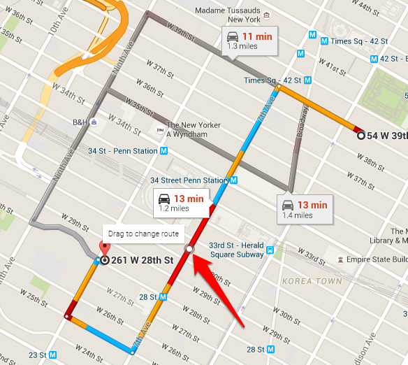 How to Create a Custom Route in Google Maps Direct Distance Google Maps on
