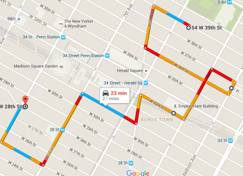 Google Maps Alternate routes